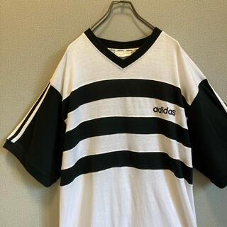 アディダス(adidas)の90s adidas 刺繍ロゴ tシャツ ゆるだぼ  vintage(Tシャツ(半袖/袖なし))