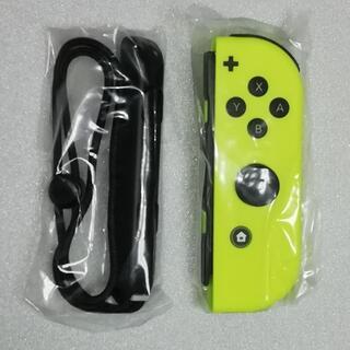 ニンテンドースイッチ(Nintendo Switch)の新品 Joy-Con(R) ネオンイエロー Joy-Conストラップ 純正品(その他)