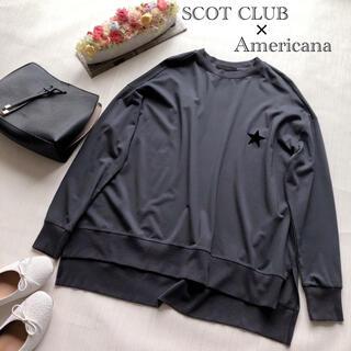 スコットクラブ(SCOT CLUB)のスコットクラブ×アメリカーナコラボ オーバーサイズプルオーバー(カットソー(長袖/七分))