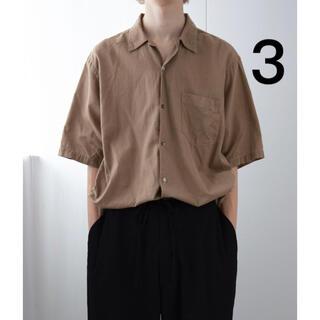 COMOLI - 【COMOLI】ベタシャンオープンカラーシャツ カーキ size:3