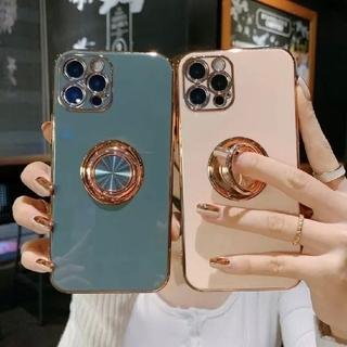高級感♪リング付き  iPhone アイフォン ケース カバー(iPhoneケース)
