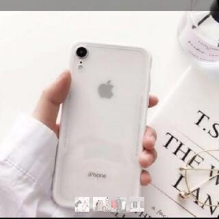 ⭐︎最新型⭐︎iPhone XRケース ホワイト インスタ映え(iPhoneケース)