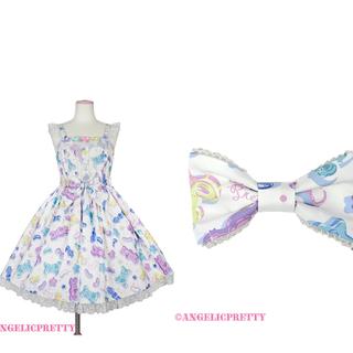 Angelic Pretty - Jelly Candy Toysジャンパースカートとバレッタ セット