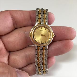 ラドー(RADO)のラドー クオーツ 12P 天然ダイヤモンド コンビ(腕時計)