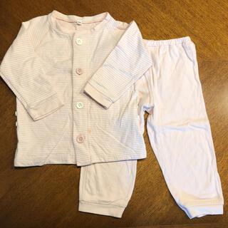 ムジルシリョウヒン(MUJI (無印良品))の値下げ! 無印良品 パジャマ 長袖 100 ピンク ボーダー MUJI 良品計画(パジャマ)