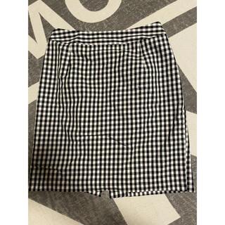 ナチュラルビューティーベーシック(NATURAL BEAUTY BASIC)のギンガムチェックタイトスカート(ひざ丈スカート)