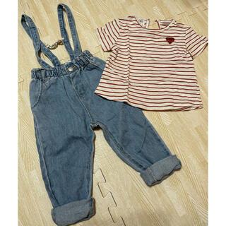 ザラキッズ(ZARA KIDS)のZARA ベビー オーバーオール シャツ (Tシャツ/カットソー)
