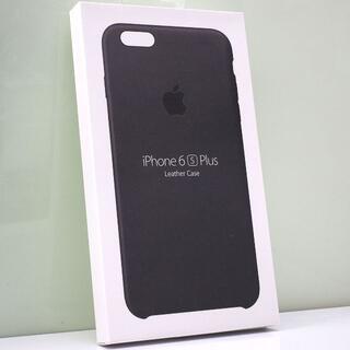 アップル(Apple)のiPhone 6sPlus/6Plus用 Apple純正 レザーケース ブラック(iPhoneケース)