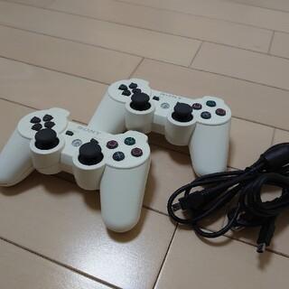 プレイステーション3(PlayStation3)のUSB付属・SONY PS3コントローラー・ホワイト2個セット(家庭用ゲーム機本体)