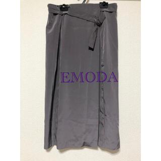 エモダ(EMODA)のミモレスカート/サテングレー/EMODA(ロングスカート)