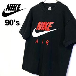 ナイキ(NIKE)の美品 90's古着 銀タグ NIKE ロゴTシャツ メンズL ブラック (Tシャツ/カットソー(半袖/袖なし))