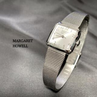 MARGARET HOWELL - マーガレットハウエル  MARGARET HOWELL 腕時計スクエア シルバー