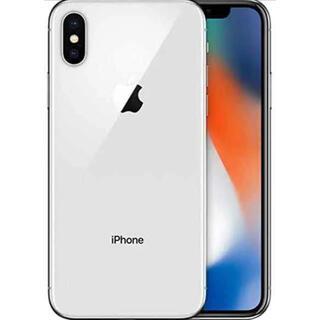 アップル(Apple)の【美品】iPhone X Silver 64 GB SIMロック解除済み(スマートフォン本体)