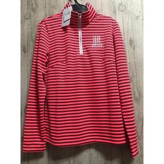 ランバン(LANVIN)のランバン未使用 ピンク ハデハデ 長袖ポロシャツ ハイネック36 Sサイズ(ウエア)