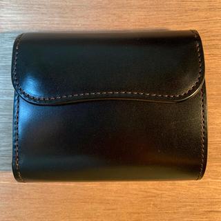 ガンゾ(GANZO)のワイルドスワンズ  ENO サドルプルアップ ブラック 旧ロゴ(折り財布)