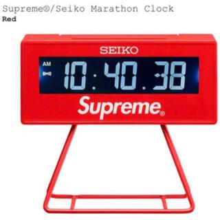 シュプリーム(Supreme)の Supreme Seiko Marathon Clock Red (SS21)(置時計)