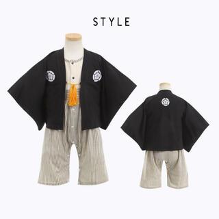 ベビー袴  ロンパース 男の子用 80(和服/着物)