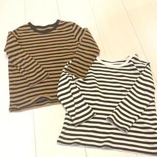 ユニクロ(UNIQLO)の☆ ユニクロ/ボーダーロングTシャツ/90&1002枚セット☆(その他)