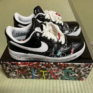 NIKE - nike air force1 paranoise パラノイズ 25.5cm 黒