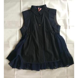 sacai - sacai 14SS ドッキングシャツ バックシフォン