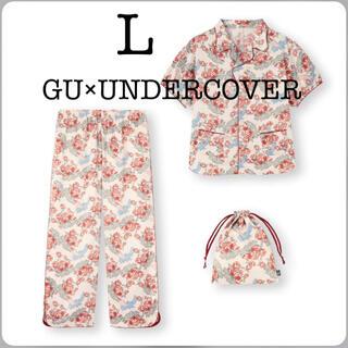 GU - 新品 GU アンダーカバー ディズニー サテンパジャマ3点 半袖 長ズボン L