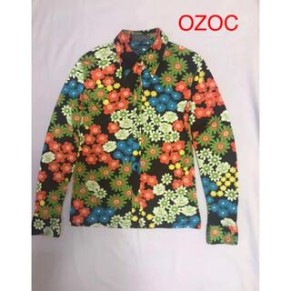 オゾック(OZOC)の【OZOC】着物の模様のようなシワにならないジャージ素材のシャツ(シャツ/ブラウス(長袖/七分))