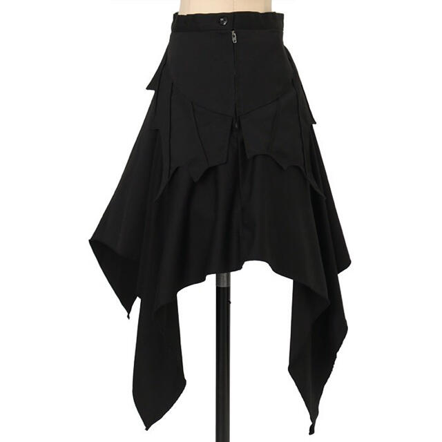 ATELIER BOZ(アトリエボズ)のBLACK PEACE NOW アシンメトリーコウモリスカート レディースのスカート(ひざ丈スカート)の商品写真