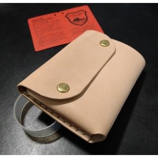 栃木レザー - 拘り 手縫い コンパクト トラッカー ウォレット 栃木レザー A ヌメ革 ベンズ