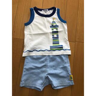 ファミリア(familiar)のfamiliar 夏服 ノースリーブ 半ズボン 上下セット 80サイズ(タンクトップ/キャミソール)