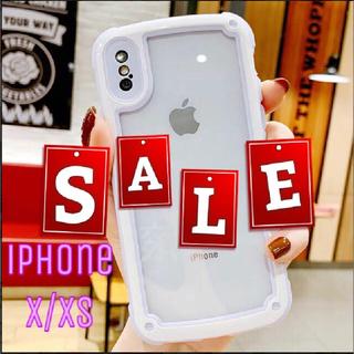 シンプル フレーム iPhone用ケース iPhoneX/XS パープル(iPhoneケース)