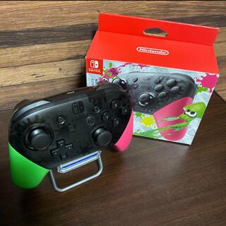 ニンテンドースイッチ(Nintendo Switch)のNintendo Switch プロコン スプラトゥーンカラー 純正品(その他)