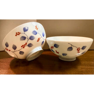 香蘭社 - 深川製磁 飯椀 茶漬揃 山葡萄 ペア