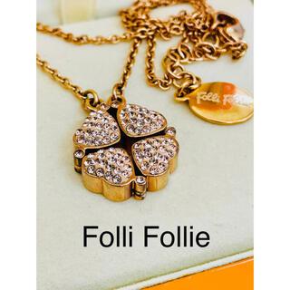 フォリフォリ(Folli Follie)のFolli Follie フォリフォリ ピンクゴールド ネックレス(ネックレス)