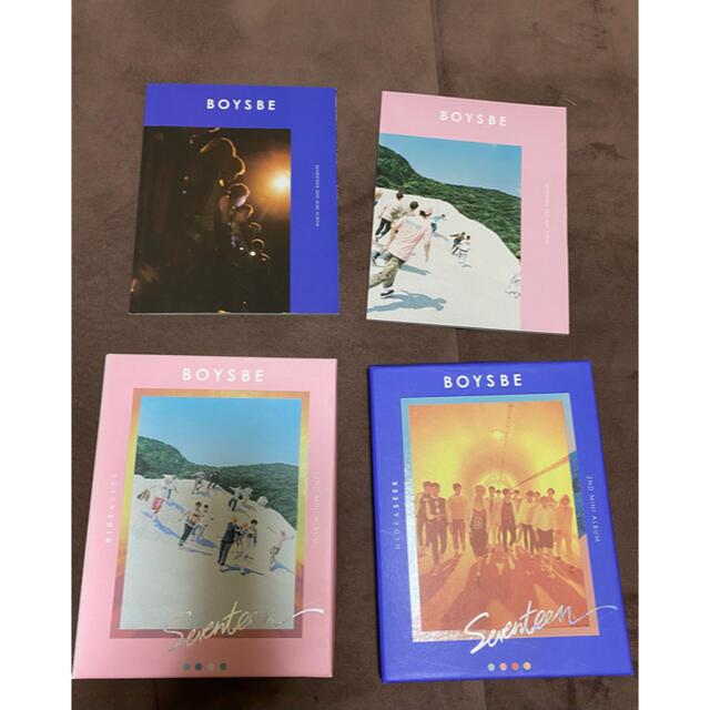 SEVENTEEN(セブンティーン)のSEVENTEEN BOYS BE アルバム 2種セット エンタメ/ホビーのタレントグッズ(アイドルグッズ)の商品写真