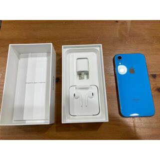 アップル(Apple)のiPhone xr 64G Blue SIMロック解除済み(スマートフォン本体)