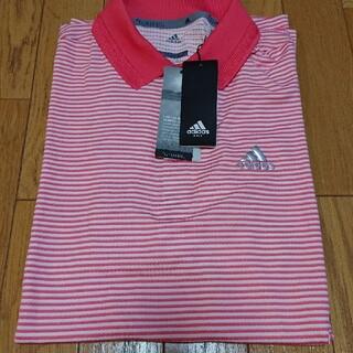 アディダス(adidas)の【新品未使用品】アディダス ゴルフ メンズ ポロシャツ サイズL ピンク(ウエア)