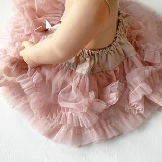 ベビー チュチュスカート チュールスカート ピンク マールマール