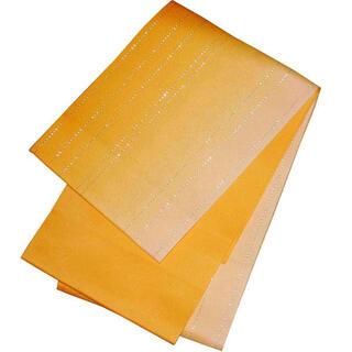 日本製 グラデーション 浴衣帯 リバーシブル 浴衣 ラメ ぼかし ゆかた帯 黄色(浴衣帯)