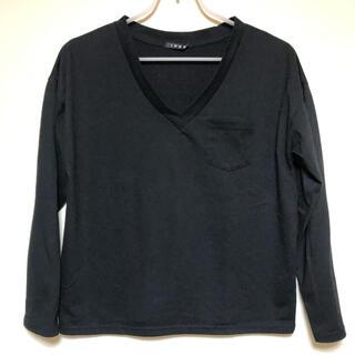 イング(INGNI)の黒長袖Tシャツ(Tシャツ(長袖/七分))