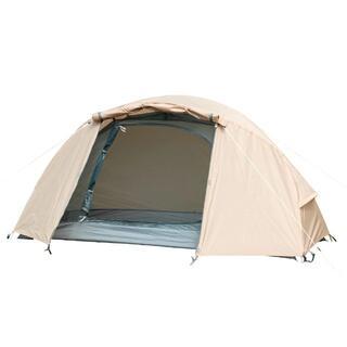 テント ツーリング 1~2人用 ソロドームワンベージュ BDK-08B 耐水圧3(寝袋/寝具)