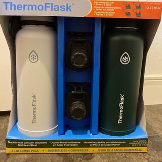 コストコ(コストコ)の新品 ThermoFlask 1.2L 2本セット フタ2種類/ハンドル付き  (タンブラー)