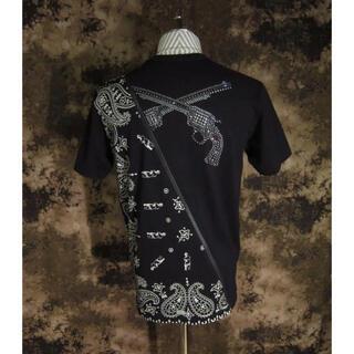 roar - コラボ!!(定価30800)ロアーroar・二丁拳銃斜めジップペイズリーTシャツ