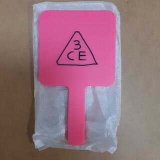 スリーシーイー(3ce)のラスト一点 未使用 ミラー 手鏡 3CE スリーシーイー ピンク(ミラー)