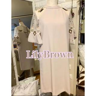 Lily Brown - リリーブラウン クロスステッチワンピース 試着のみ美品
