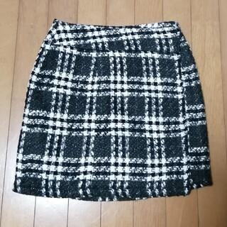 オリゾンティー(ORIZZONTI)のip 巻きスカート チェック柄(ひざ丈スカート)