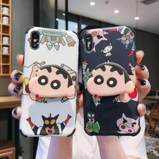 iPhone 7plus/8plus クレヨンしんちゃん ブラックネイビー