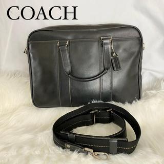 ☆美品 COACH ビジネスバッグ ブリーフケース 2way レザー ブラック