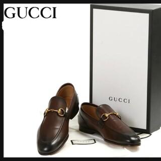 Gucci - GUCCI グッチ ヨルダーン レザーローファー ビジネスシューズ(ダークブラウ