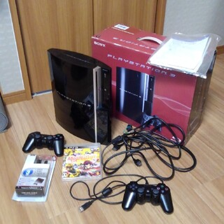 PlayStation3 - 美中古 PS3 40GB 本体 箱 説明書 おまけソフト コントローラー2つ付き