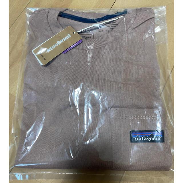patagonia(パタゴニア)のパタゴニア P-6 ラベル ポケット レスポンシビリティー 新品 M タン メンズのトップス(Tシャツ/カットソー(半袖/袖なし))の商品写真